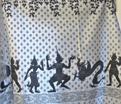 Thai Shadow, border print view in whole yardage