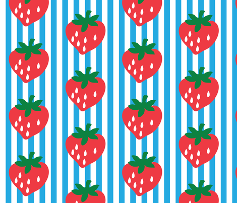 strawberry stripe james fabric by mossbadger on Spoonflower - custom fabric
