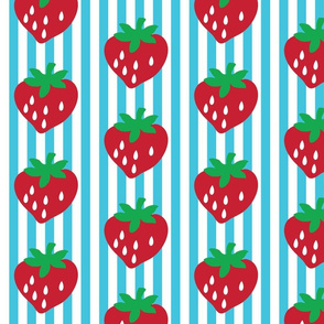 strawberry stripe james (aqua alt)