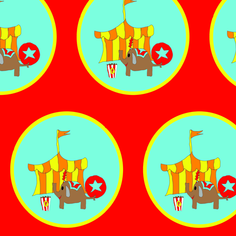 sweet circus fabric by palmrowprints on Spoonflower - custom fabric