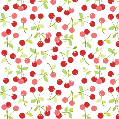 cherries fabric by katarina on Spoonflower - custom fabric