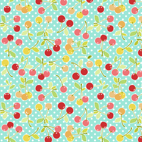 cherry dot fabric by katarina on Spoonflower - custom fabric
