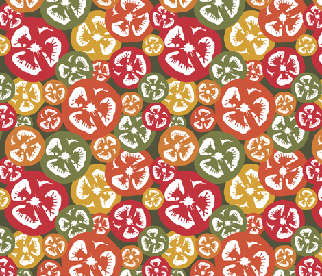 tomatoes fabric by littlemomodesign on Spoonflower - custom fabric