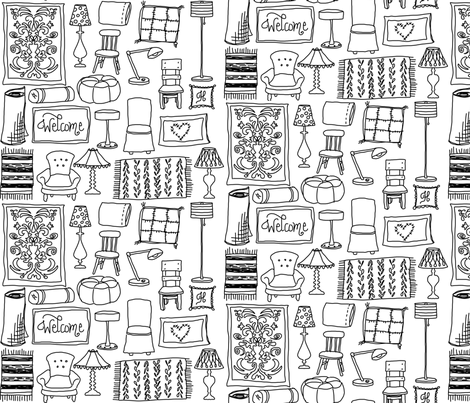 LivableLiving fabric by mrshervi on Spoonflower - custom fabric