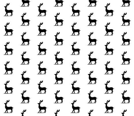 Reindeer fabric by wiseideastudios on Spoonflower - custom fabric