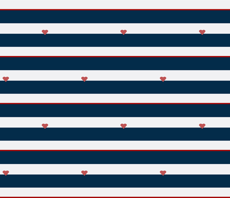 Love French Stripe Navy fabric by ninaribena on Spoonflower - custom fabric