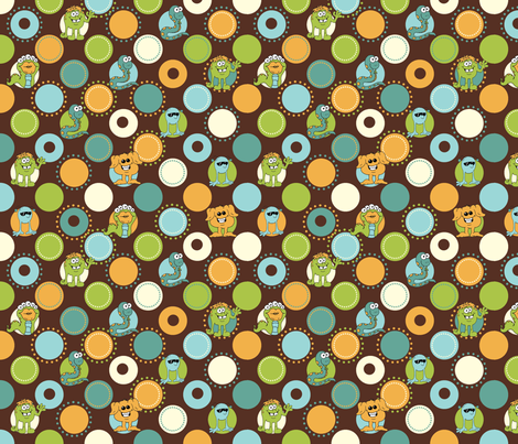 Friendly Monsters by JPDesigns fabric by jpdesigns on Spoonflower - custom fabric