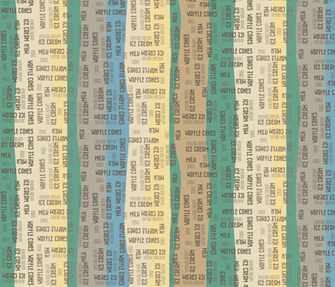 Ice Creamy Stripes fabric by catru on Spoonflower - custom fabric