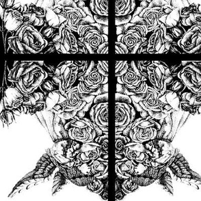 Pattern-B_W-angel_and_roses-2