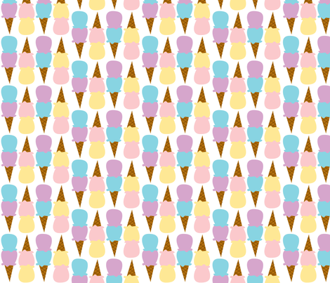 Double Scoops fabric by audzipan on Spoonflower - custom fabric