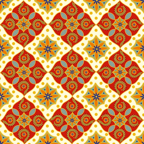 Festive Medallion (updated) fabric by cksstudio80 on Spoonflower - custom fabric