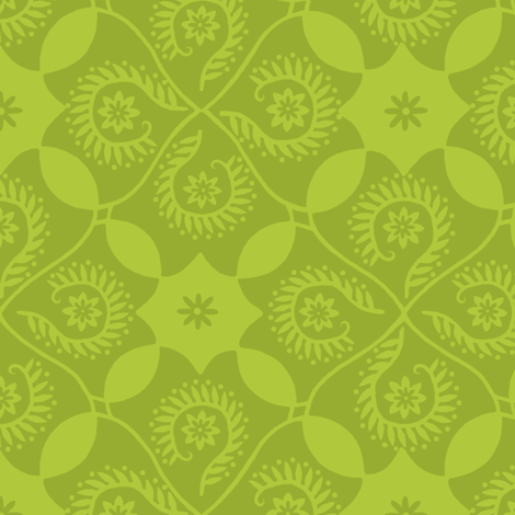 Lime Mojito Damask fabric by cksstudio80 on Spoonflower - custom fabric