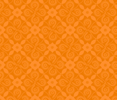 Mango Damask fabric by cksstudio80 on Spoonflower - custom fabric
