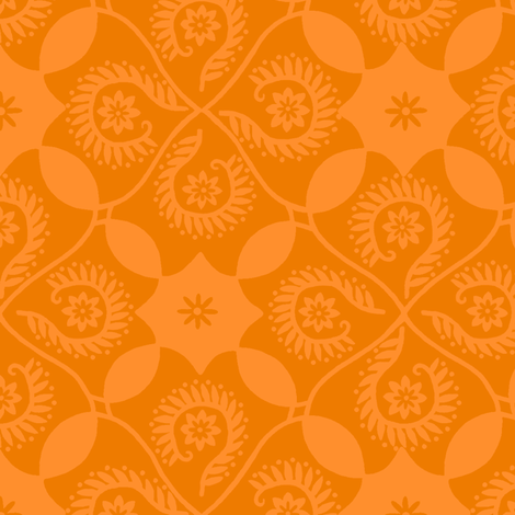 Mango Damask fabric by cksstudio80 on Spoonflower - custom fabric