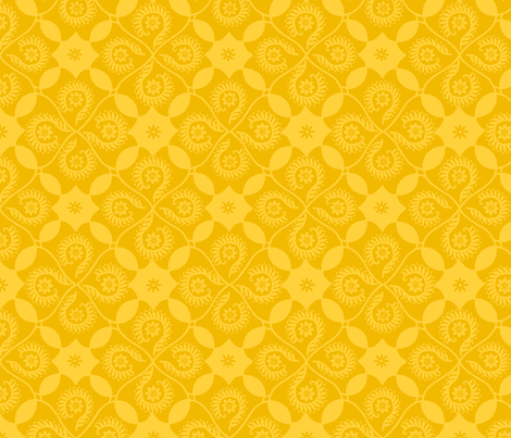 Lemon Damask fabric by cksstudio80 on Spoonflower - custom fabric
