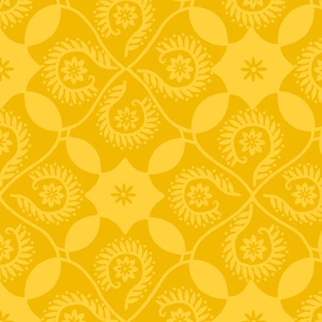 Lemon Damask fabric by cksstudio80 on Spoonflower - custom fabric