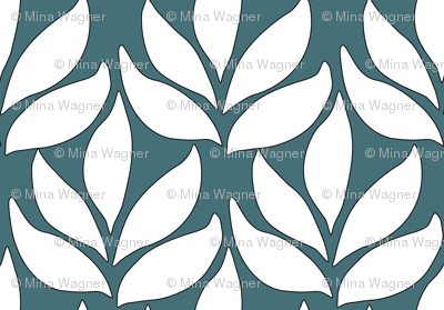 Leaf-texture-fabric-lg-white-DARK-BLUEGREEN