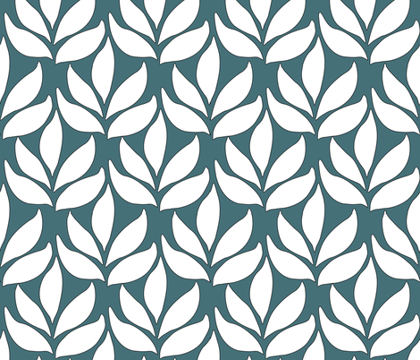 Leaf-texture-fabric-lg-white-DARK-BLUEGREEN fabric by mina on Spoonflower - custom fabric