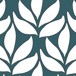 Leaf-texture-fabric-lg-white-DARK-BLUEGREEN