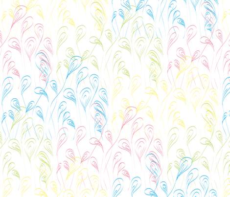 Rainbow grass fabric by majobv on Spoonflower - custom fabric
