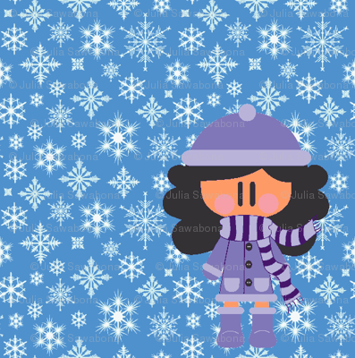 Winter girl (enhanced color)