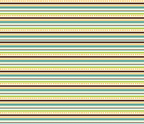 FriendlyMonstersStripes fabric by jpdesigns on Spoonflower - custom fabric