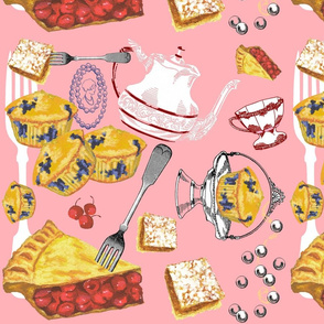 Tea and Cake (pink colorway)
