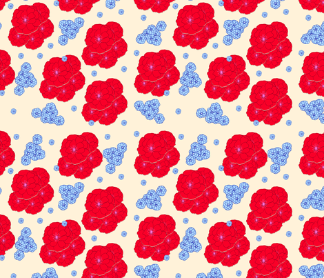Big Red Peonies fabric by erinina on Spoonflower - custom fabric