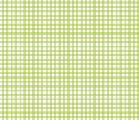 FriendlyMonsters_PaperGinghamGreen fabric by jpdesigns on Spoonflower - custom fabric