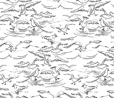 Seagulls_playing fabric by gem_graphics on Spoonflower - custom fabric