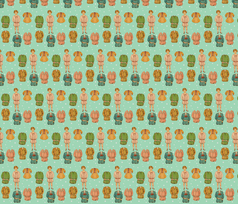 Paper Doll fabric by the_vintage_moth on Spoonflower - custom fabric