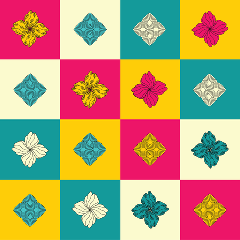 Les Fleurs fabric by mooberri on Spoonflower - custom fabric