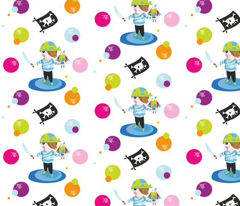 Little_Pirate_Boy fabric by chris_aart on Spoonflower - custom fabric