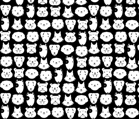 chiens en lignes fabric by kobaitchi on Spoonflower - custom fabric