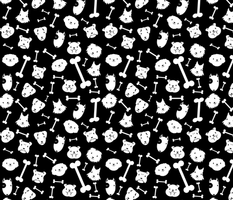 chiens en vrac fabric by kobaitchi on Spoonflower - custom fabric