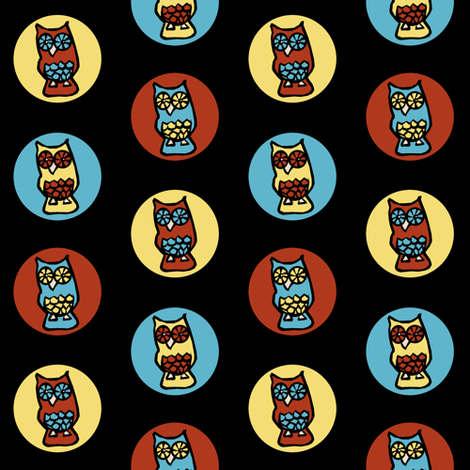 Owl Spots fabric by pond_ripple on Spoonflower - custom fabric