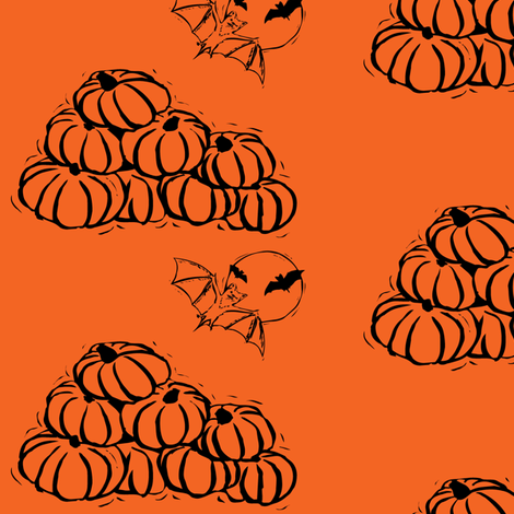 pumpkinsbats fabric by meaganrogers on Spoonflower - custom fabric