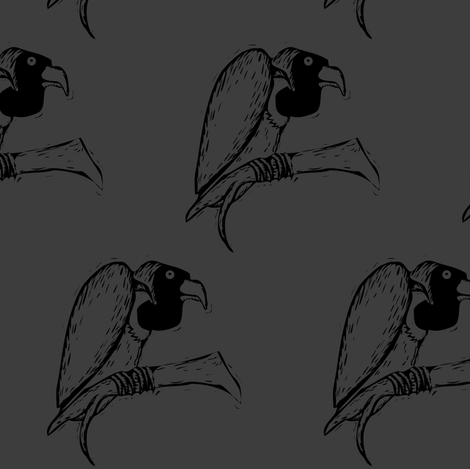 vulture fabric by meaganrogers on Spoonflower - custom fabric