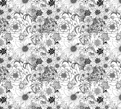 Flower-Fairy Family fabric by tallulahdahling on Spoonflower - custom fabric