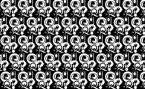Q is Question Mark fabric by missjessm on Spoonflower - custom fabric