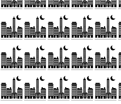 Night and the City fabric by kiwicuties on Spoonflower - custom fabric