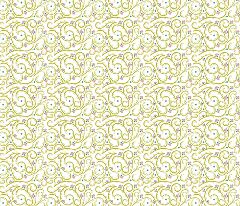 Spring Blossoms - Vines fabric by ttoz on Spoonflower - custom fabric