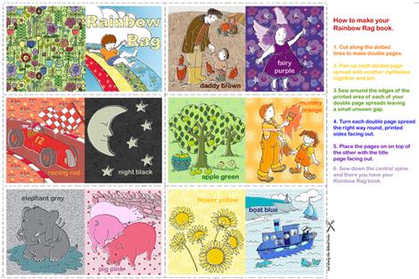 Rainbow Rag Book fabric by woodledoo on Spoonflower - custom fabric
