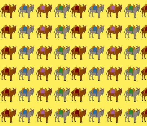 donkeyline_SF fabric by corinnevail on Spoonflower - custom fabric