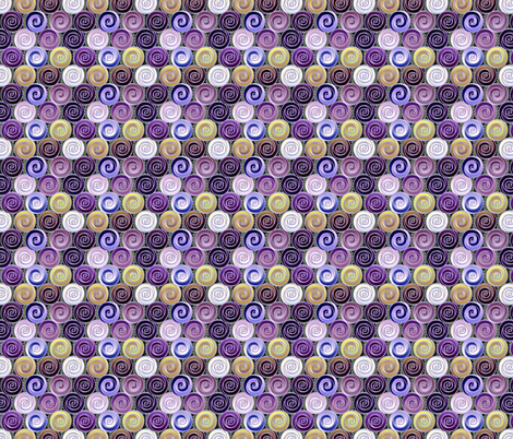 roses are not red - purple tonal small fabric by glimmericks on Spoonflower - custom fabric