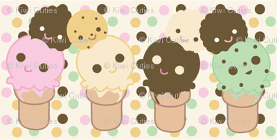 Chibi Ice Cream Cones