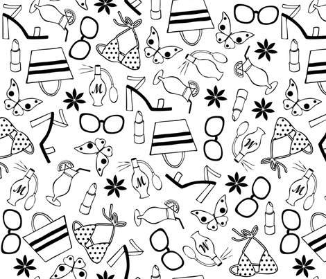 Summer time fabric by martinaness on Spoonflower - custom fabric
