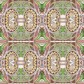 Nouveau Deco Kaleidoscope Squares