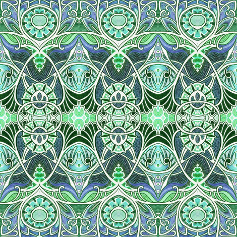 Victorian Gothic (green) fabric by edsel2084 on Spoonflower - custom fabric
