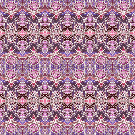Victorian Gothic (magenta/lavender) fabric by edsel2084 on Spoonflower - custom fabric